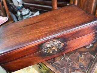 精品~老古董老料素面海南黃花梨木方盒一件
