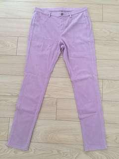Uniqlo Pinkish Purple Skinny Pants