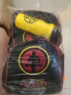 Tas Gold Gym Express Ori NEW / tas gym / tas baju #1010