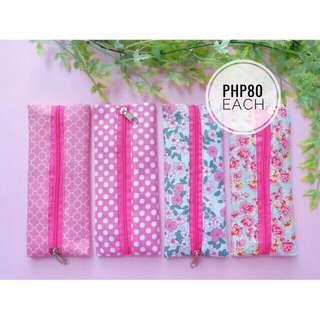Fabric Pen Case - Pink Collection