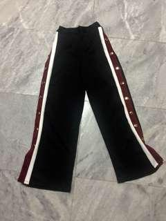 Red/Black Striped Button Pants