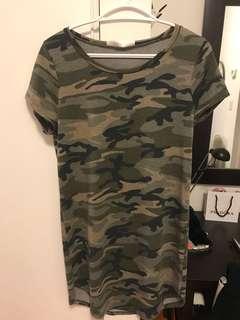 M Boutique Camo T shirt Dress