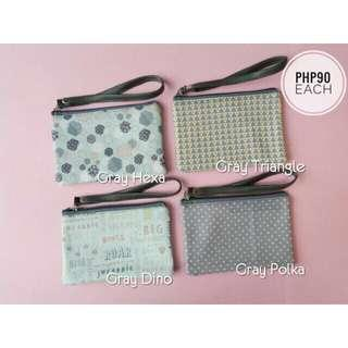 Wallet with strap - gray collection
