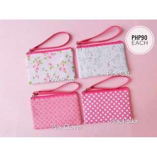 Wallet with strap - pink collection