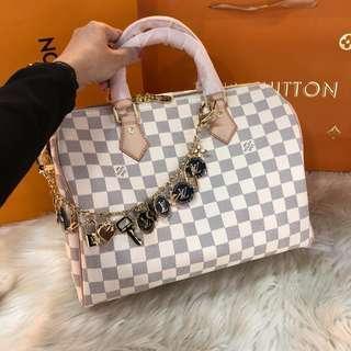 Lv speedy azur 30 with bag charm