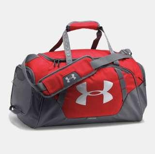 Under Armour Red & Grey Large Gym Bag