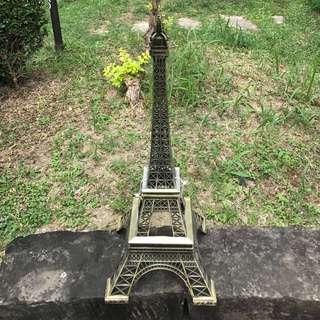 🚚 「巴黎鐵塔高度70cm」  古董 復古 懷舊 稀少 有緣 大同寶寶 黑松 沙士 鐵件 40年