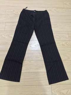 Bossini Black Pinstripes Slacks Pants