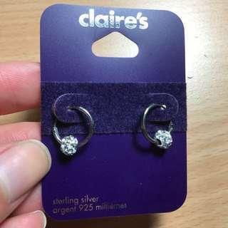 Sterling silver hopped earrings