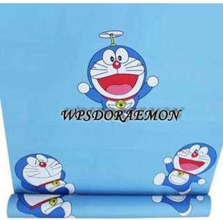Wallpaper Dinding Motif Doraemon Background Biru