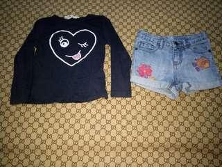 Take Baby Gap Shorts and H&M top(Size2y/o)