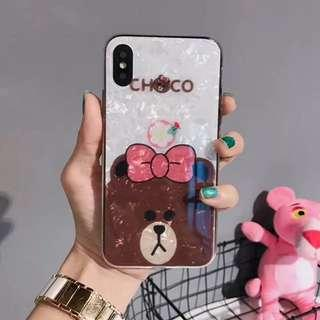 🆕Iphone X Line Friend - Brown Phone Casing / Sleeve Case