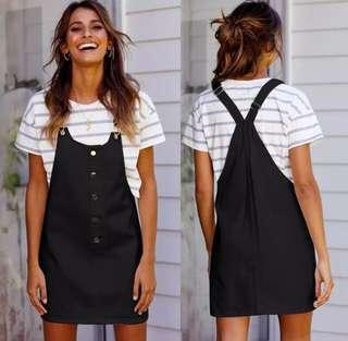 Brand New Front Button Overall Dress