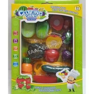 Fruit & Vegetabale Cut Set - Early Educational Toys