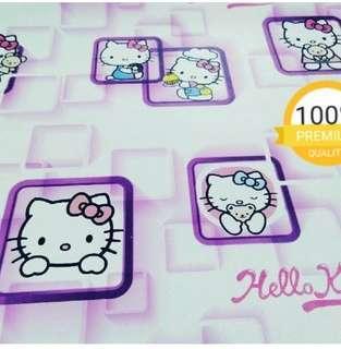 Wallpaper Dinding Motif Hello Kitty Ungu