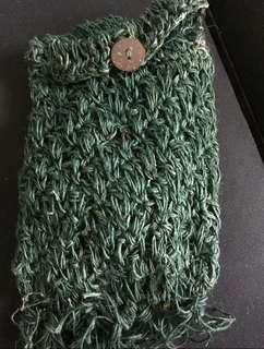 Hand-made hemp purse/phone bag