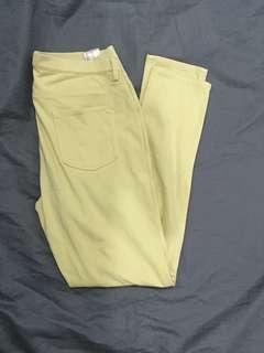 Uniqlo Yellow Skinny Pants
