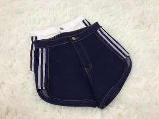 线条高腰裤