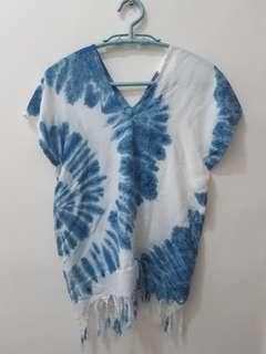 全新Free size 手工藍染女裝上衣Top Tshirt