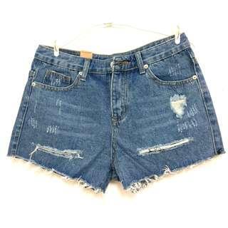 🚚 🎀全新🎀牛仔破洞短褲#十月女裝半價