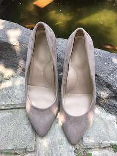 Uniqlo grey heels