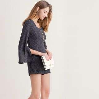 🚚 #十月女裝半價Airspace 氣質開岔袖連身褲