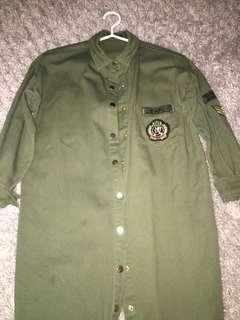 Boohoo Army Dress