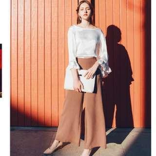 🚚  #十月女裝半價Airspace花猴聯名毛呢寬褲