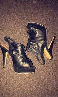 Edgy black heels