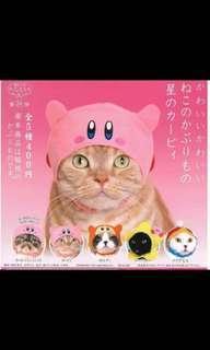 星之卡比 貓貓 頭套 扭蛋