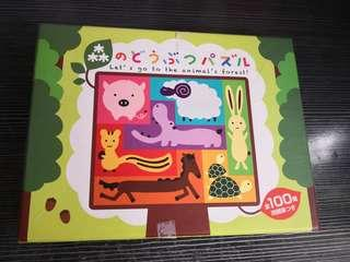 兒童 動物 木版 拼圖 puzzle