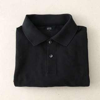 Uniqlo Black Polo Tee