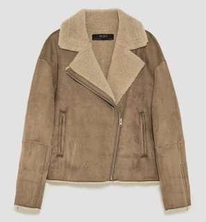 Zara Suede Fur Jacket