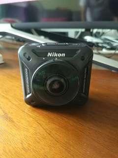 Nikon key mission 360 Action camera(包64gb SD card, 三粒電)