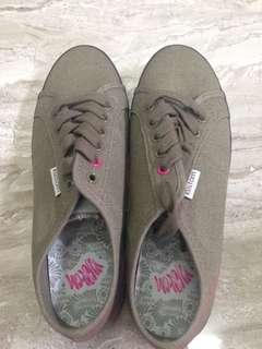 Dark macha green shoes