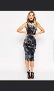 BN ASOS Bodycon Dress with Mesh Insert UK 8