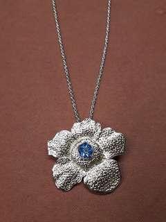Rafflesia Brooch/Necklace - Sapphire