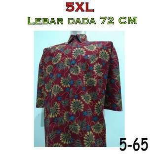 🚚 PO Batik tee / shirt 5xl big/jumbo size