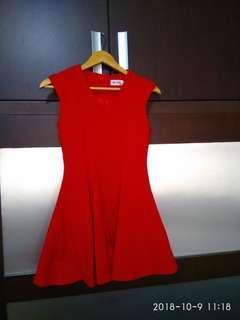 Red dress korean