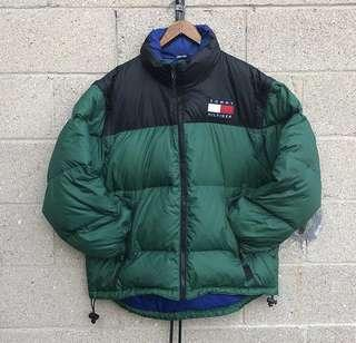 Black and green black tommy winter jacket