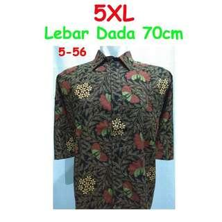 Batik tee / shirt 5xl big/jumbo size