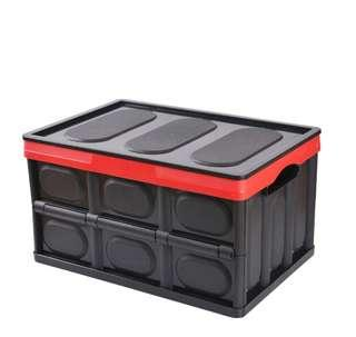 Foldable Car Storage Box with lid, collapsible transportation box, plastic foldable container, moving box