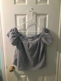 Off-shoulder blouse from Abercrombie and Fitch size S