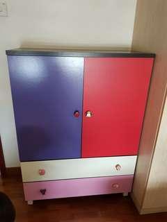 Kid wardrobe with drawer EUC