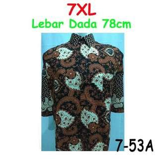 🚚 Batik tee / shirt 7xl big/jumbo size