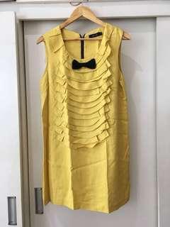 Anna Sui Lemon Tuxedo Dress