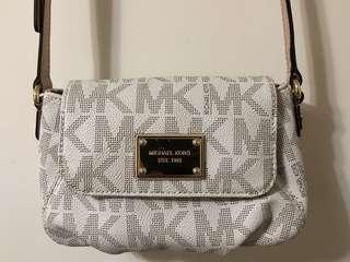 Michael Kors Gold and White Crossbody Bag (Originally $130+)