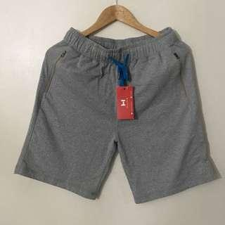 Grey Drawstring Shorts