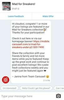 THANKS, CAROUSELL! 💝
