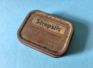Vintage Strepsils Tin Box 古董珍藏 使立消 鐵盒